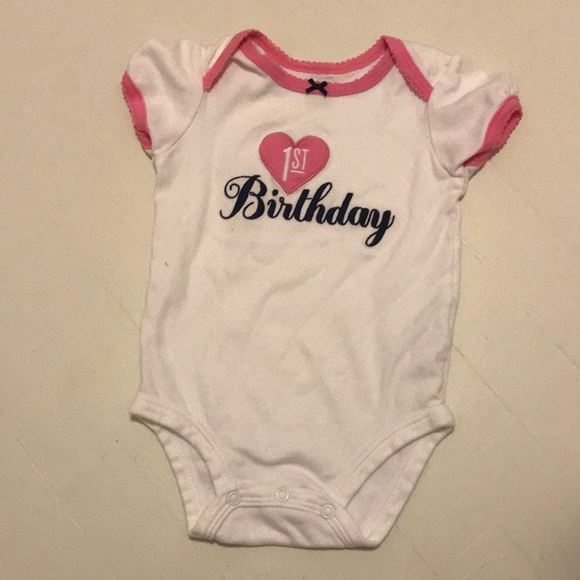 79dc8cfc Carter's Shirts & Tops   Girls 1st Birthday Onesie By Carters   Poshmark